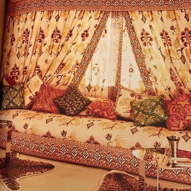 An alcove in Valentino's palazzo