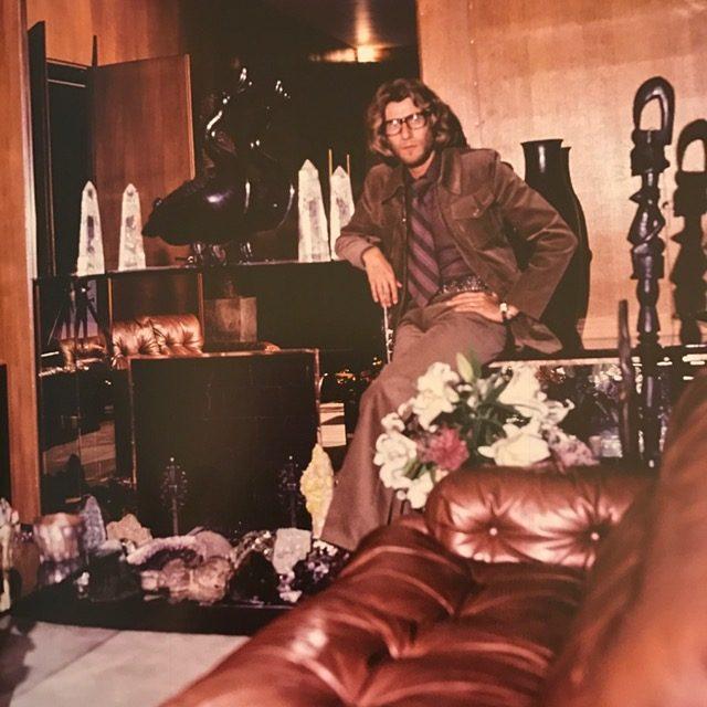 Yves Saint Laurent in his Paris living room