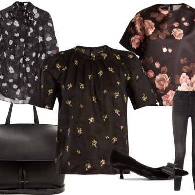 A Fall Floral Blouse