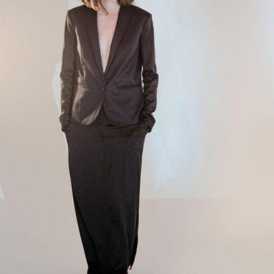 A Silk Satin Suit