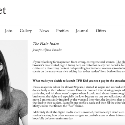My Profile on The PR Net
