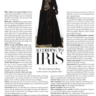 A Look Back: Style At Any Age + My Talk With Iris