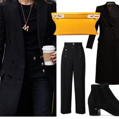 Forever Elegant: Tailored Black + Buttons