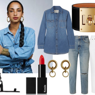 Everyday Outfit #5: Double Denim (and the $80 shirt)