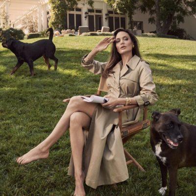 Minimalist Glamour a la Angelina Jolie
