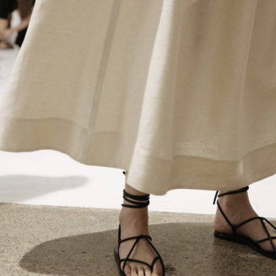 A Lace-Up Summer Sandal